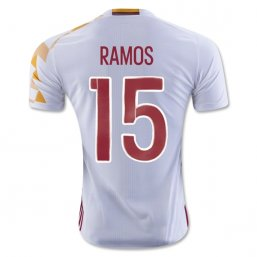 Spain 2016 RAMOS Authentic Camiseta de la 2ª equipación