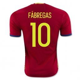 Spain 2016 FABREGAS Authentic Camiseta de la 1ª equipación