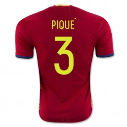 Spain 2016 PIQUE Authentic Camiseta de la 1ª equipación