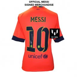 Icons Messi Barcelona Away 14/15 Back Signed CAMISETAS DE FÚTBOL