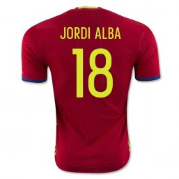 Spain 2016 JORDI ALBA Authentic Camiseta de la 1ª equipación