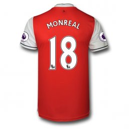 Arsenal 16/17 18 MONREAL Authentic Camiseta de la 1ª equipación