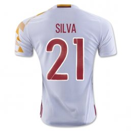 Spain 2016 SILVA Authentic Camiseta de la 2ª equipación
