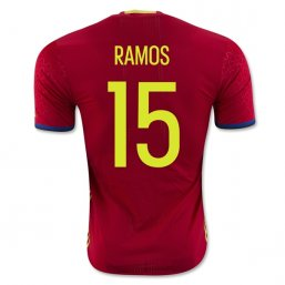 Spain 2016 RAMOS Authentic Camiseta de la 1ª equipación