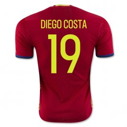 Spain 2016 DIEGO COSTA Authentic Camiseta de la 1ª equipación