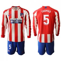 Camiseta Atletico Madrid 1ª Manga larga Equipación 19/20 #5 THOMAS