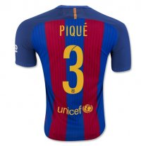 Barcelona 16/17 PIQUE Authentic Camiseta de la 1ª equipación