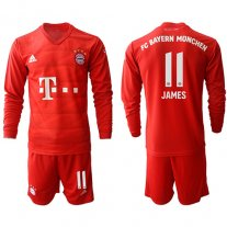 Bayern Munich Long Sleeve Camiseta de la 1ª equipación 19/20 #11 JAMES
