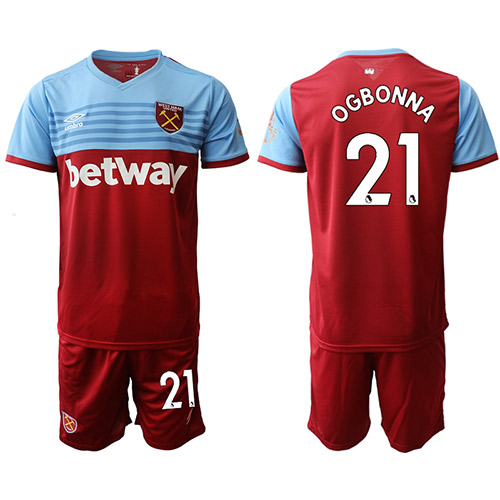 Camiseta del West Ham United 1ª 2019/20 #21 OGBONNA