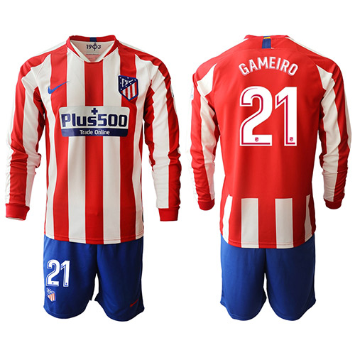Camiseta Atletico Madrid 1ª Manga larga Equipación 19/20 #21 GAMEIRO
