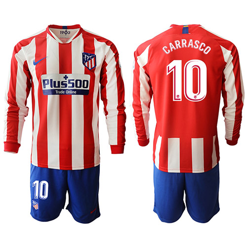 Camiseta Atletico Madrid 1ª Manga larga Equipación 19/20 #10 CARRASCO