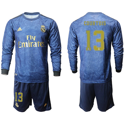 Real Madrid Manga larga Camiseta de la 2ª equipación 2019/20 #13 COURTOIS