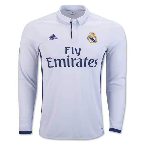 Real Madrid 16/17 LS Home Jersey