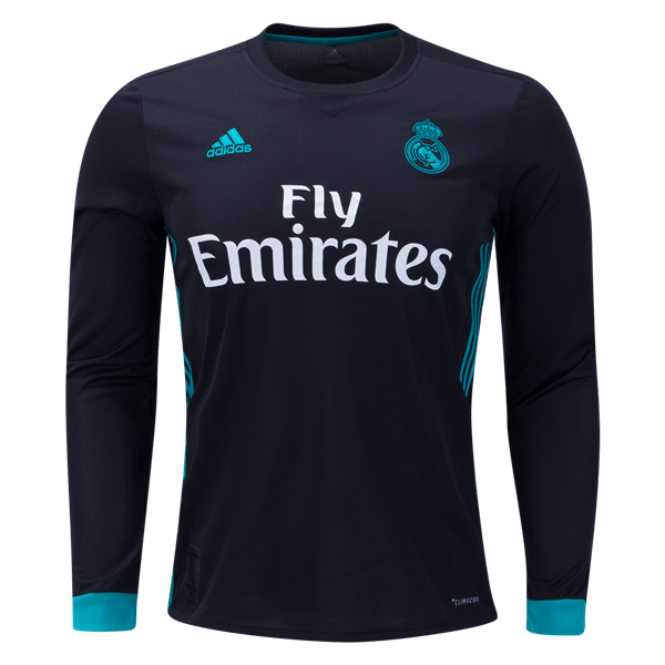 adidas Real Madrid Long Sleeve Away Jersey 17/18