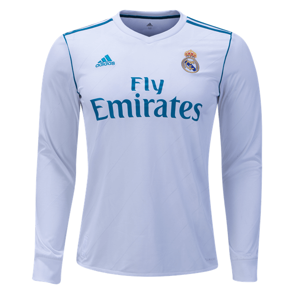 adidas Real Madrid Long Sleeve Home Jersey 17/18