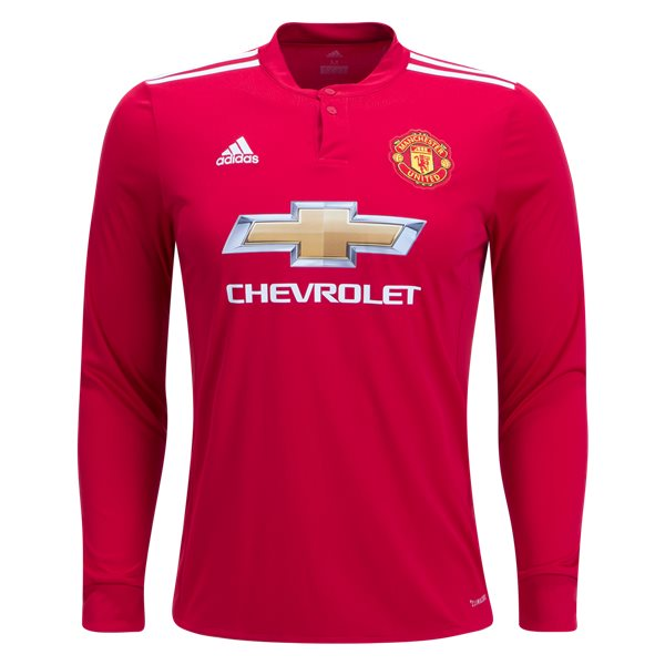 adidas Manchester United Long Sleeve Home Jersey 17/18