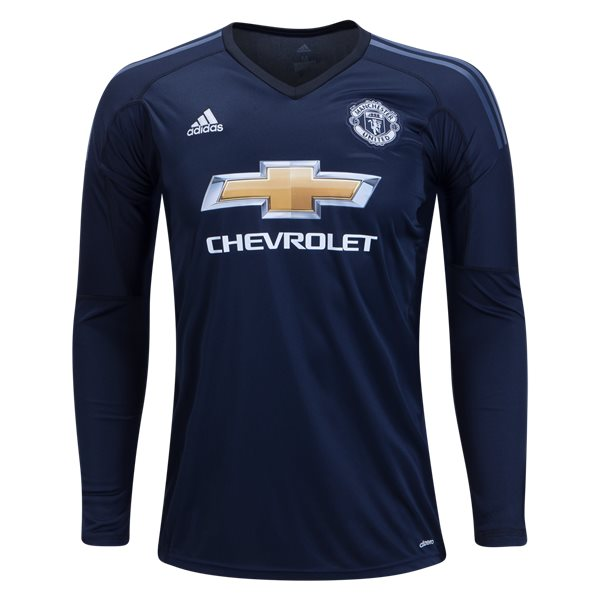 adidas Manchester United Long Sleeve Home Goalkeeper Jersey 17/18