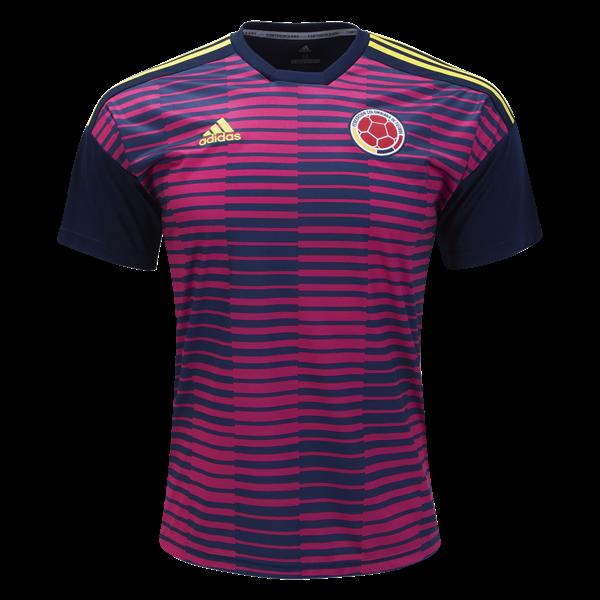 Jersey de entrenamiento Pre Match Colombia 2018 de adidas