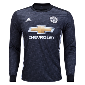 adidas Manchester United Long Sleeve Away Jersey 17/18