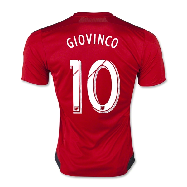 Toronto FC 2015 GIOVINCO Authentic Home Soccer Jersey