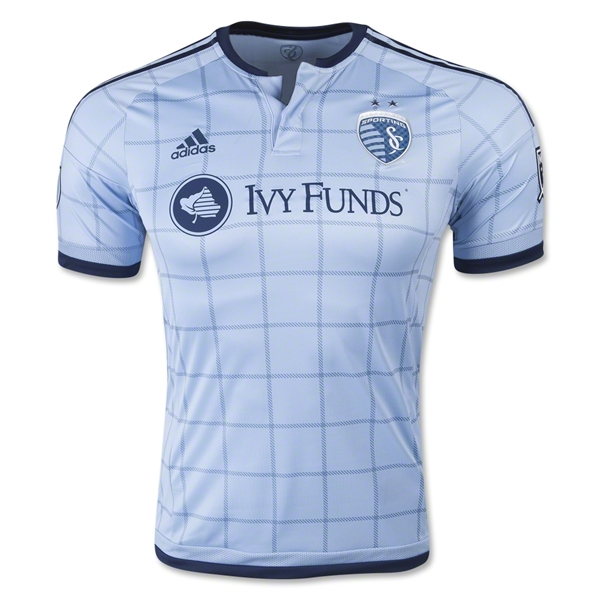 Sporting KC 2015 Authentic Home Soccer Jersey