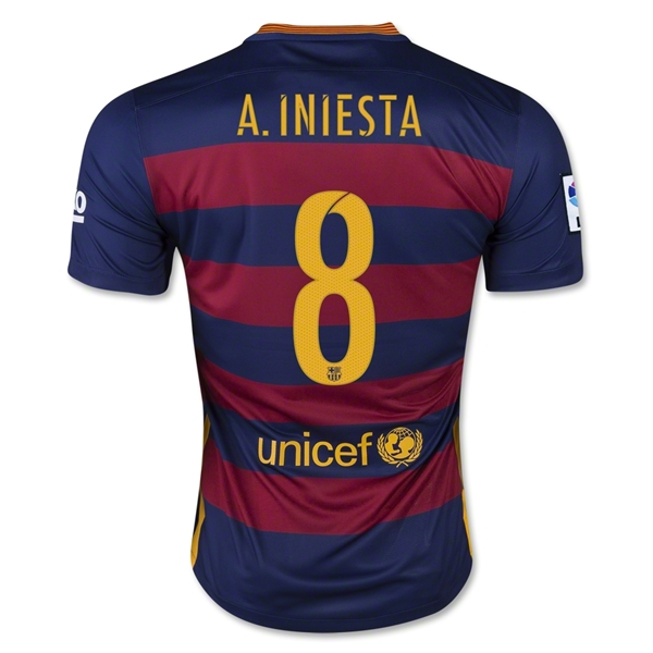 Barcelona 15/16 A. INIESTA Home Jersey