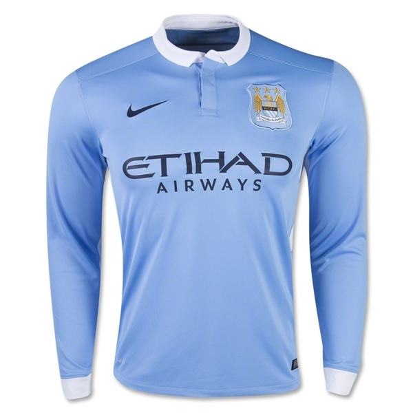 Manchester City 15/16 LS Home Jersey