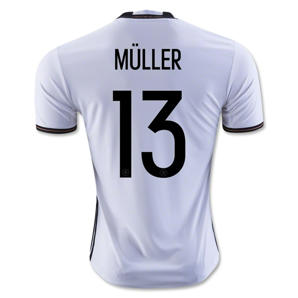 Germany 2016 MULLER Home Jersey