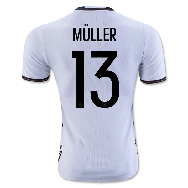 Germany 2016 MULLER Authentic Home Jersey