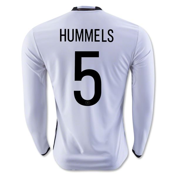 Germany 2016 HUMMELS LS Home Jersey