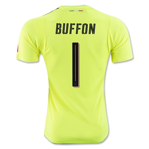 Italy 2016 BUFFON Goalkeeper Jersey (Yellow)