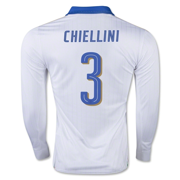 Italy 15/16 CHIELLINI LS Away Jersey