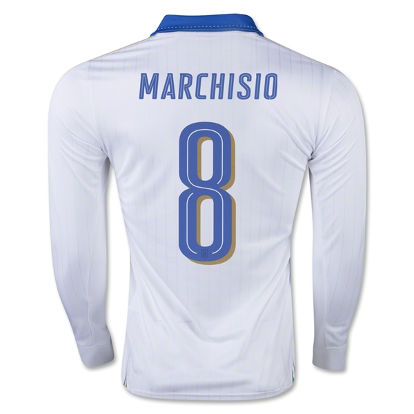 Italy 15/16 MARCHISIO LS Away Jersey