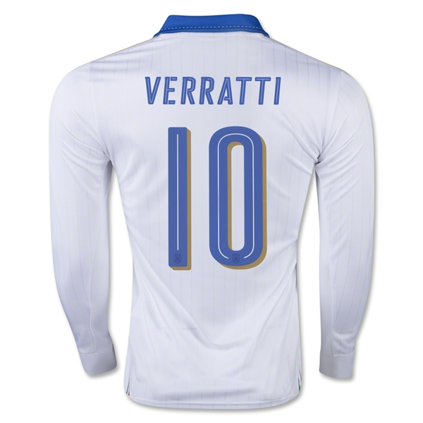 Italy 15/16 VERRATTI LS Away Jersey