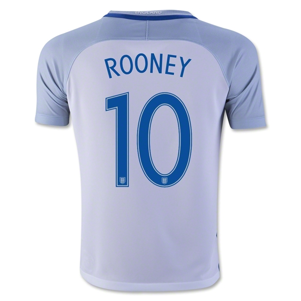 England 2016 ROONEY Youth Home Jersey
