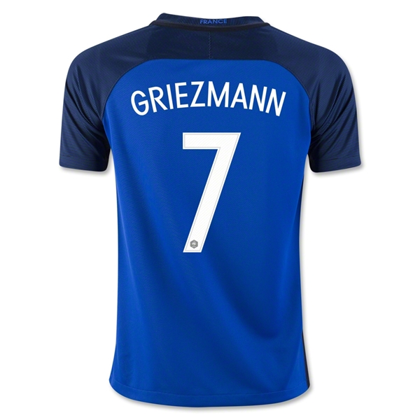 France 2016 GRIEZMANN Youth Home Jersey