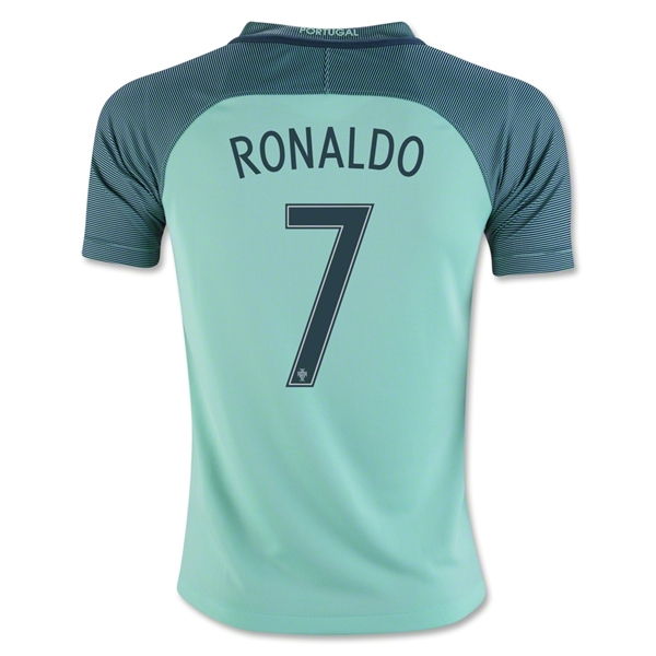 Portugal 2016 RONALDO Youth Away Jersey