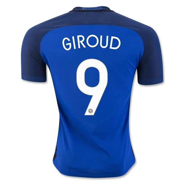 France 2016 GIROUD Authentic Home Jersey