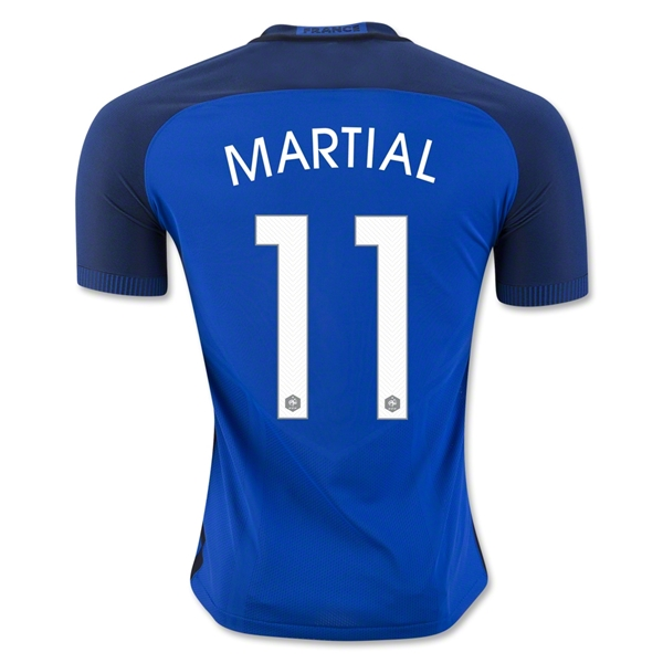France 2016 MARTIAL Authentic Home Jersey