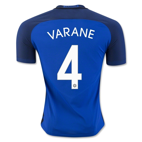 France 2016 VARANE Authentic Home Jersey