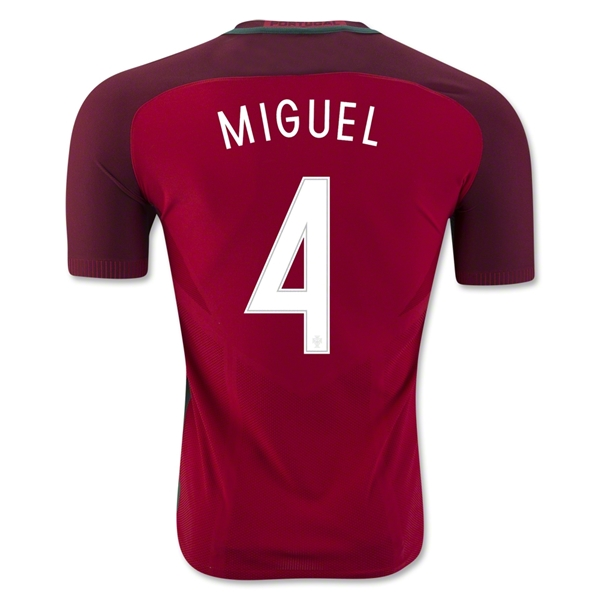 Portugal 2016 MIGUEL Authentic Home Jersey