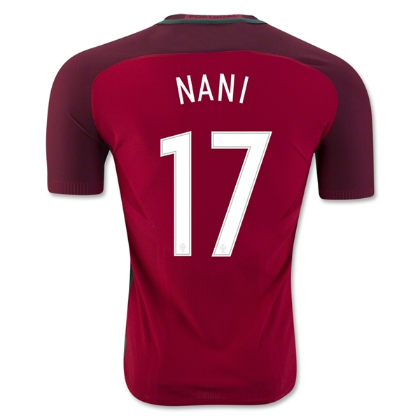 Portugal 2016 NANI Authentic Home Jersey