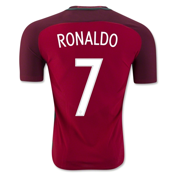 Portugal 2016 RONALDO Authentic Home Jersey