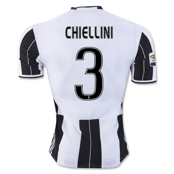 Juventus 16/17 CHIELLINI Authentic Home Jersey