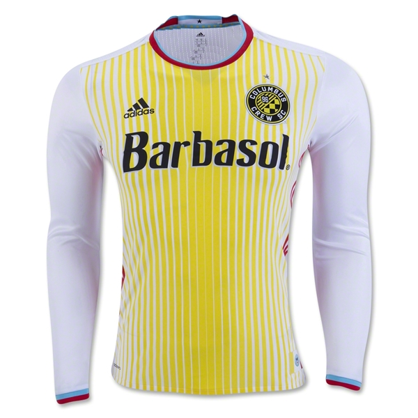 Columbus Crew 2016 LS Authentic Away Soccer Jersey