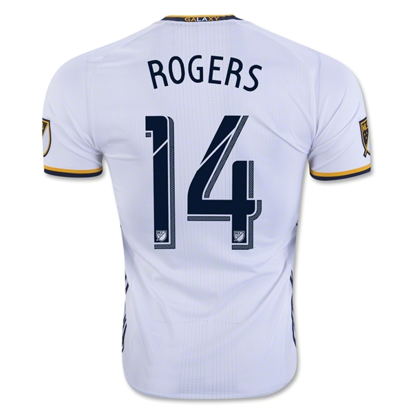LA Galaxy 2016 ROGERS Authentic Home Soccer Jersey