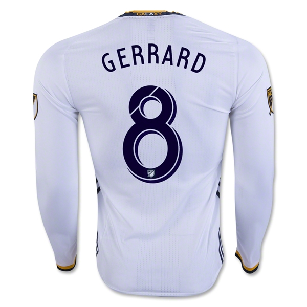 LA Galaxy 2016 GERRARD LS Authentic Home Soccer Jersey