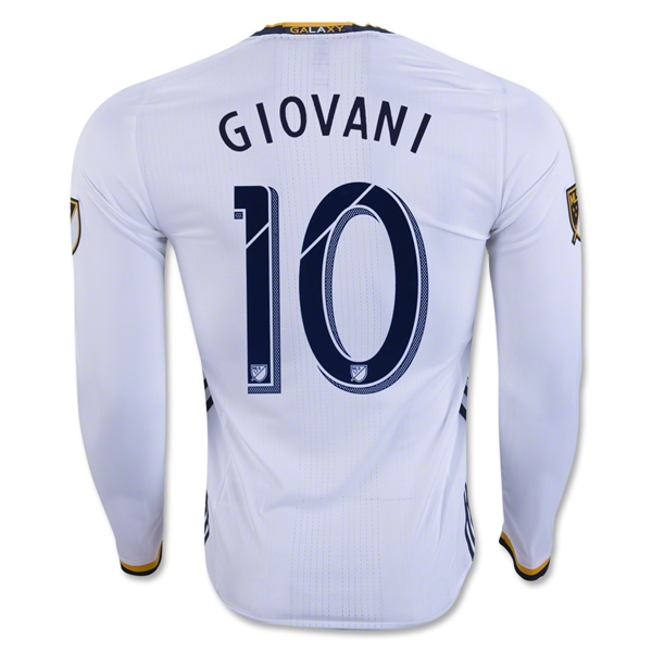 LA Galaxy 2016 GIOVANI LS Authentic Home Soccer Jersey