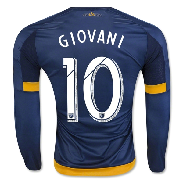 LA Galaxy 2016 GIOVANI LS Authentic Away Soccer Jersey