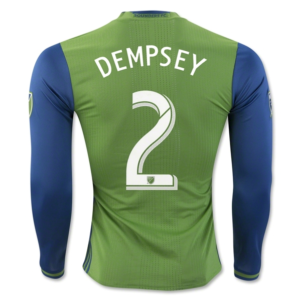 Seattle Sounders 2016 DEMPSEY LS Authentic Home Soccer Jersey